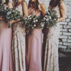 Adrianna Papell beaded Bridesmaid/Prom dress